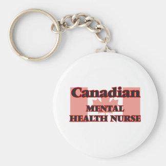 Canadian Mental Health Nurse Basic Round Button Key Ring