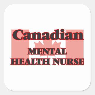 Canadian Mental Health Nurse Square Sticker
