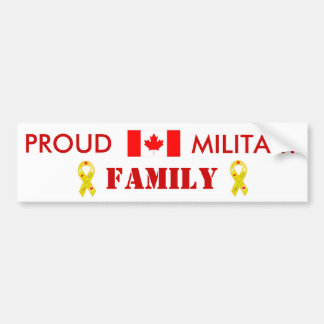 Canadian Military Family Bumper Sticker
