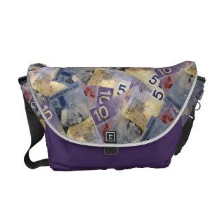 Canadian Money Messenger Bag