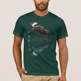 Canadian Moose in Water Wildlife T-Shirt