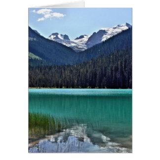 Canadian mountain lake card