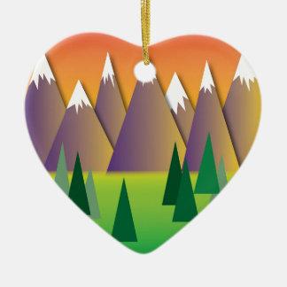 Canadian Mountains.jpg Ceramic Heart Decoration