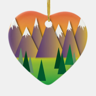 Canadian Mountains.jpg Christmas Ornament