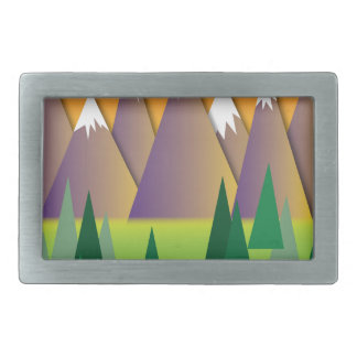 Canadian Mountains.jpg Rectangular Belt Buckle
