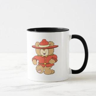 Canadian Mountie Bear Mug