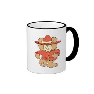 Canadian Mountie Bear Coffee Mug
