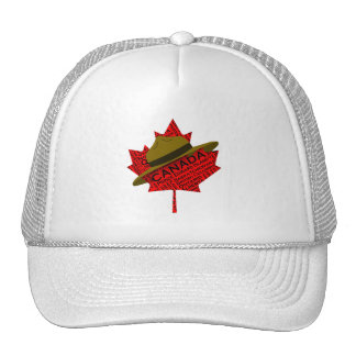 Canadian Mountie Hat on Red Maple Leaf Mesh Hats