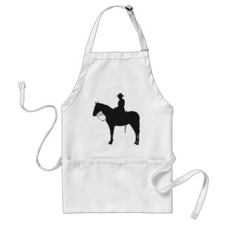 Canadian Mountie Silhouette Apron
