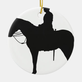 Canadian Mountie Silhouette Christmas Ornament