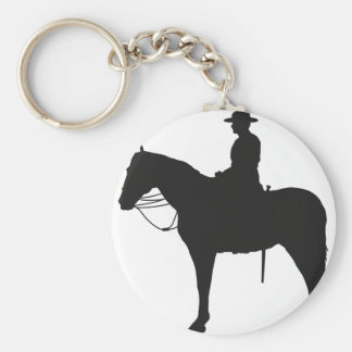 Canadian Mountie Silhouette Key Ring