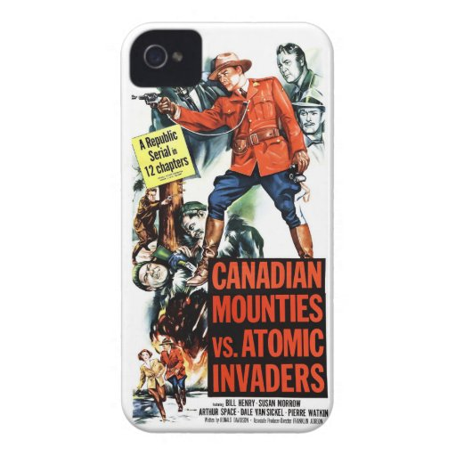 Canadian Mounties Vs. Atomic Invaders iPhone 4 Covers