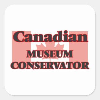 Canadian Museum Conservator Square Sticker