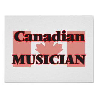 Canadian Musician Poster