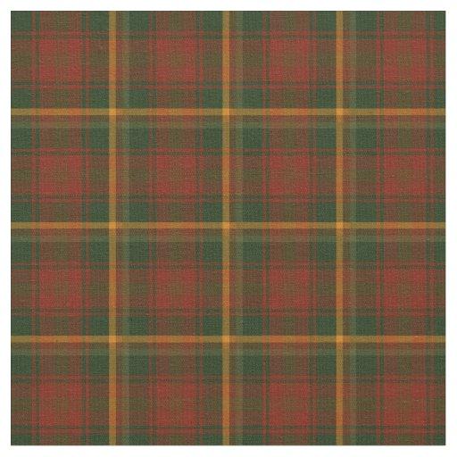 Canadian National Maple Leaf Tartan Fabric