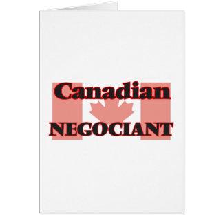 Canadian Negociant Greeting Card