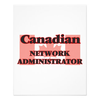 Canadian Network Administrator 11.5 Cm X 14 Cm Flyer