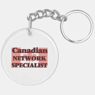 Canadian Network Specialist Double-Sided Round Acrylic Key Ring