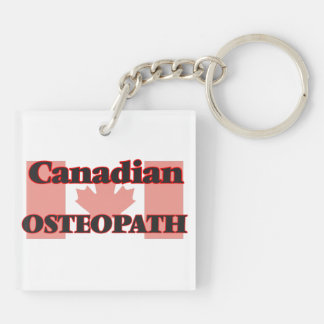 Canadian Osteopath Double-Sided Square Acrylic Key Ring
