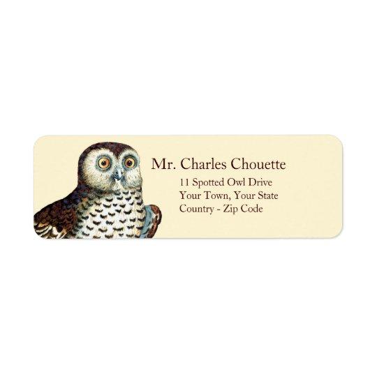 Canadian Owl Customisable Return Address Labels