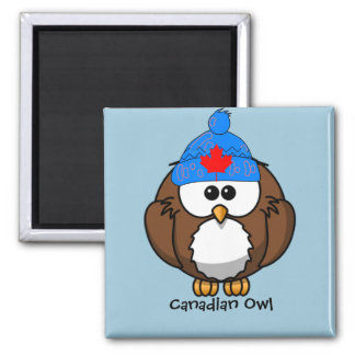 Canadian Owl Square Magnet