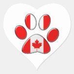 Canadian patriotic cat heart sticker