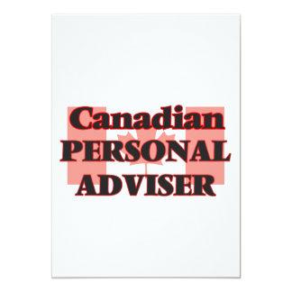 Canadian Personal Adviser 13 Cm X 18 Cm Invitation Card