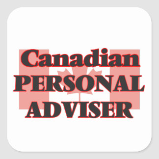 Canadian Personal Adviser Square Sticker