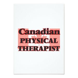 Canadian Physical Therapist 13 Cm X 18 Cm Invitation Card
