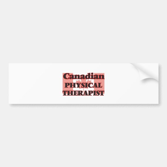 Canadian Physical Therapist Bumper Sticker