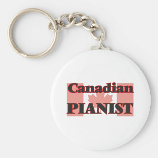 Canadian Pianist Basic Round Button Key Ring