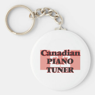 Canadian Piano Tuner Basic Round Button Key Ring