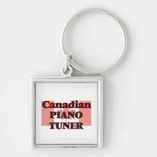 Canadian Piano Tuner Silver-Colored Square Key Ring