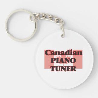 Canadian Piano Tuner Single-Sided Round Acrylic Key Ring
