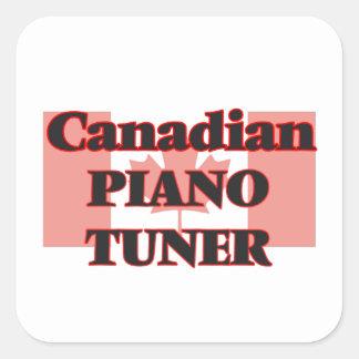 Canadian Piano Tuner Square Sticker