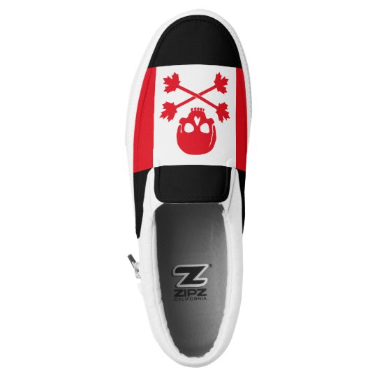Canadian Pirate Scull and Crossbones Maple Leaf Slip-On