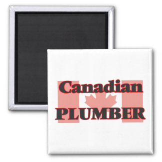 Canadian Plumber Square Magnet