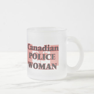 Canadian Police Woman Frosted Glass Mug