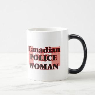 Canadian Police Woman Morphing Mug