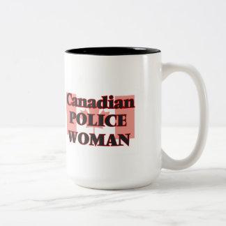 Canadian Police Woman Two-Tone Mug