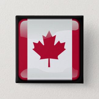 Canadian polished 15 cm square badge