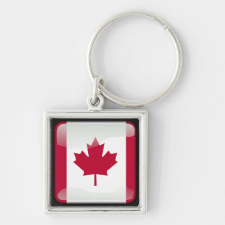 Canadian polished key ring