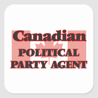 Canadian Political Party Agent Square Sticker