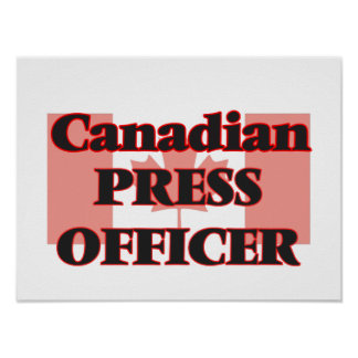 Canadian Press Officer Poster