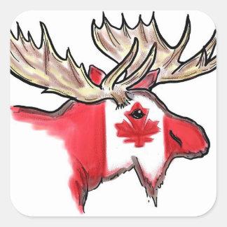 Canadian pride Canada elk artistic flag stickers