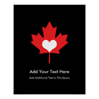 Canadian Pride - I Love Canada Maple Leaf Poster