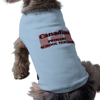 Canadian Primary School Teacher Sleeveless Dog Shirt
