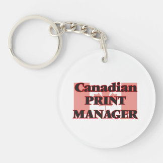 Canadian Print Manager Single-Sided Round Acrylic Key Ring