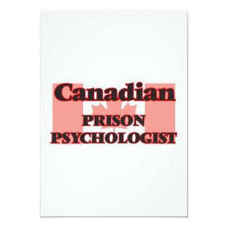 Canadian Prison Psychologist 13 Cm X 18 Cm Invitation Card