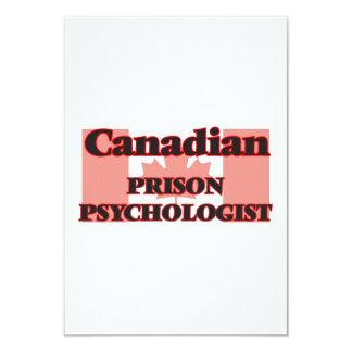 Canadian Prison Psychologist 9 Cm X 13 Cm Invitation Card